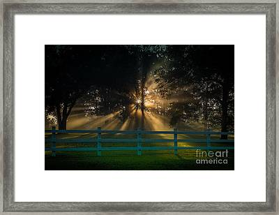 Framed Print featuring the photograph The First Day Of Creation by T Lowry Wilson