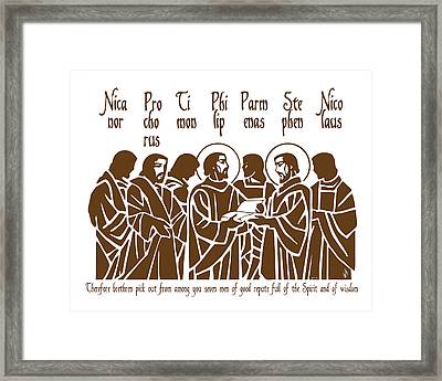The First Deacons Framed Print by Lawrence Klimecki