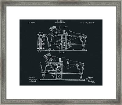 The First Exercise Machine Illustration Framed Print by Dan Sproul