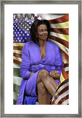 The First Lady-american Pride Framed Print