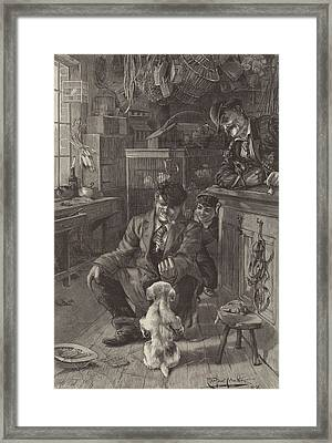 The First Lesson Framed Print by Louis Fairfax Muckley