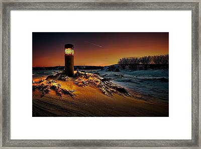 The First Light At Sunset Framed Print