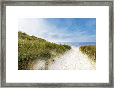 Framed Print featuring the photograph The First Look At The Sea by Hannes Cmarits