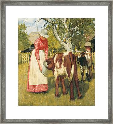 The First Meal Framed Print