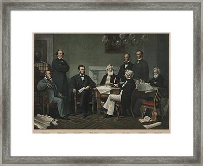 The First Reading Of The Emancipation Framed Print
