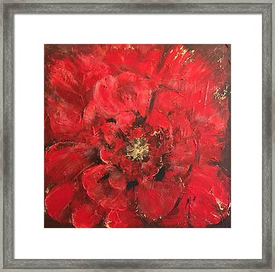 The First Red Poppie. Framed Print