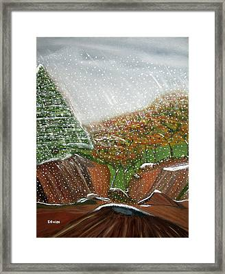 The First Snow Framed Print by Edwin Long