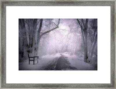 The First Snow Of December Framed Print