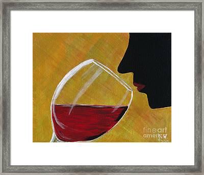The First Taste Framed Print by Janet Webb