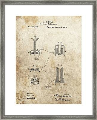 The First Telephone Patent Framed Print