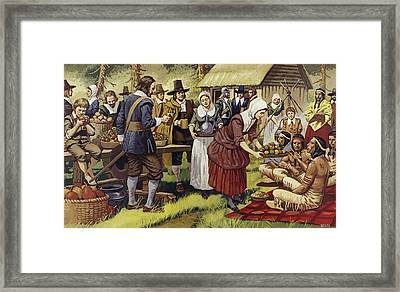 The First Thanksgiving  Framed Print by Mike White