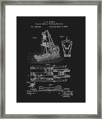 The First Treadmill Patent Framed Print