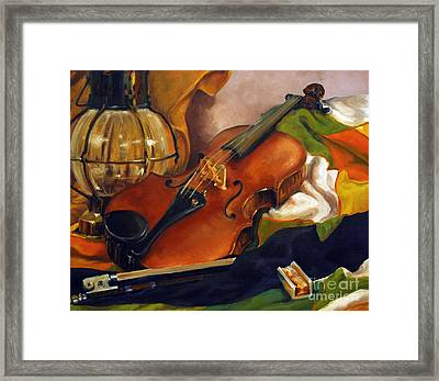 The First Violin Framed Print by Suzanne McKee