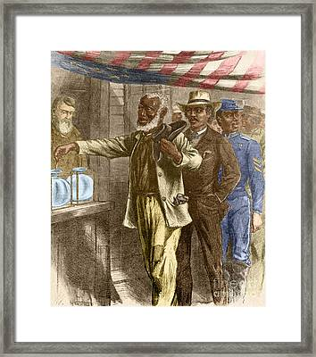 The First Vote 1867 Framed Print by Photo Researchers