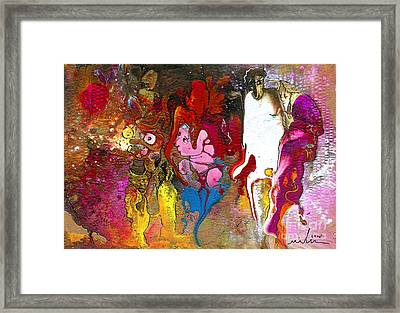 The First Wedding Framed Print by Miki De Goodaboom