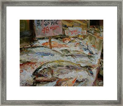 The Fish Market Framed Print by James Swanson