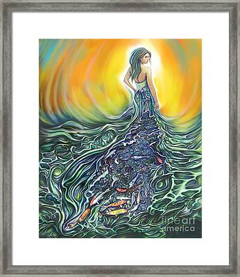 The Fish Wife Framed Print by Julianne Black