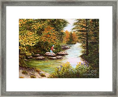 The Fisher Boy  Framed Print by Judy Filarecki