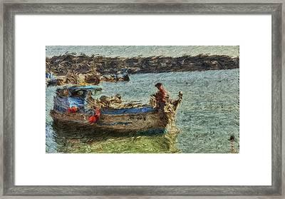 The Fisherman Of Sausalito Framed Print