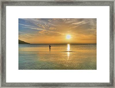 The Fisherman Framed Print by David Hibberd