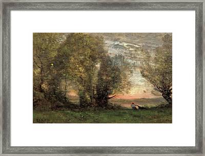 The Fisherman - Evening Effect Framed Print