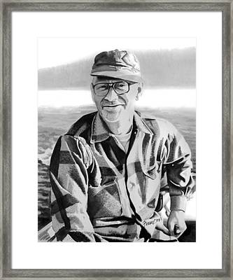 The Fisherman Framed Print by Ferrel Cordle