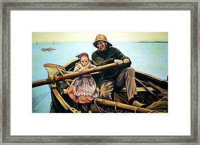 The Fisherman Framed Print by Jose Roldan Rendon