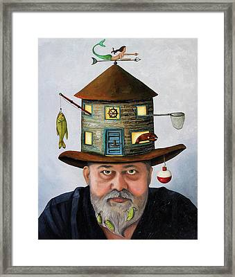 The Fisherman Framed Print by Leah Saulnier The Painting Maniac