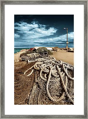 The Fishermans Wharf Framed Print