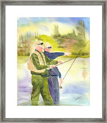 The Fishermen Framed Print by Carolyn Curtice