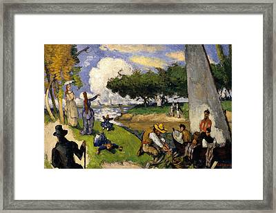 The Fishermen  Framed Print by Paul Cezanne