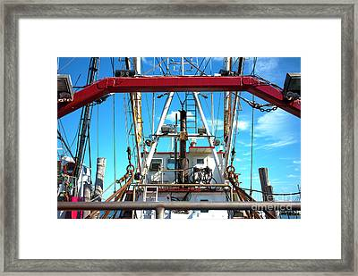 Framed Print featuring the photograph The Fishing Boat by John Rizzuto