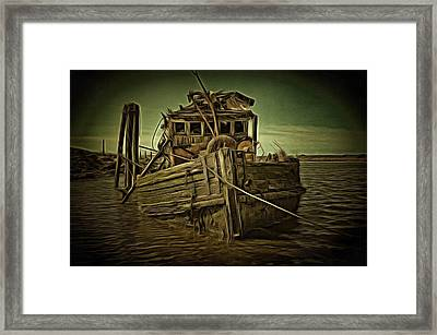 Framed Print featuring the photograph Mary D. Hume Shipwreak by Thom Zehrfeld