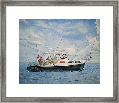 The Fishing Charter - Cape Cod Bay Framed Print