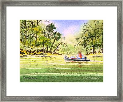The Fishing Is Done - Heading Home Framed Print by Bill Holkham