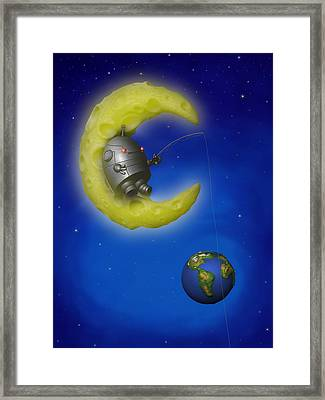 The Fishing Moon Framed Print by Michael Knight