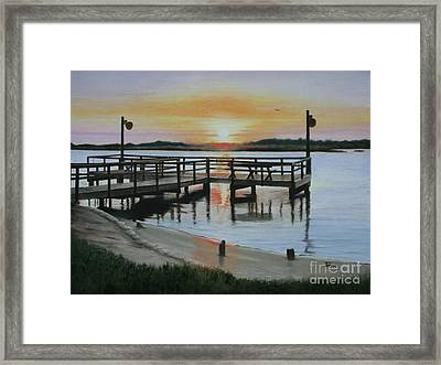 The Fishing Pier Framed Print