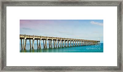 The Fishing Pier Framed Print by Mechala  Matthews