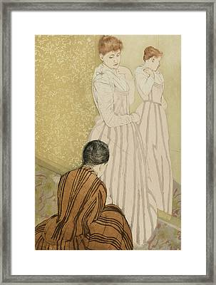 The Fitting Framed Print by Mary Stevenson Cassatt