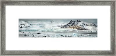 The Fjallajokull Glacier And Ice Lagoon. Framed Print