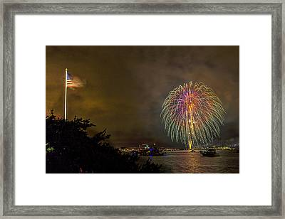 The Flag Flies Framed Print by Peter Tellone