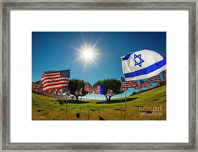 The Flag Of Israel Tribute Framed Print by Julian Starks