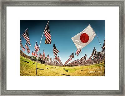 The Flag Of Japan Framed Print by Julian Starks