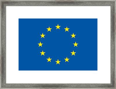 The Flag Of The European Union Framed Print by Unknown