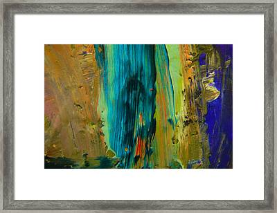 The Flair Of The Flame Abstract Framed Print by Jeff Swan
