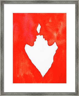 The Flame Of Love Framed Print by Iryna Goodall