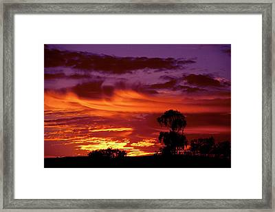 The Flame Thrower Framed Print