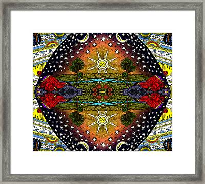 The Flammarion Engraving Revealed - As Above So Below Framed Print by Fox Burroughs