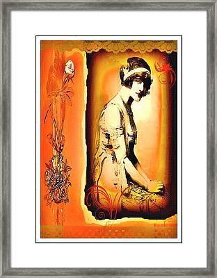 Framed Print featuring the mixed media The Flapper by Mary Morawska