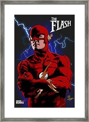 The Flash 1990 Framed Print by Joseph Burke